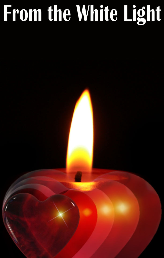Candle - links to flash fiction story: From the White Light by Linda Jo Martin