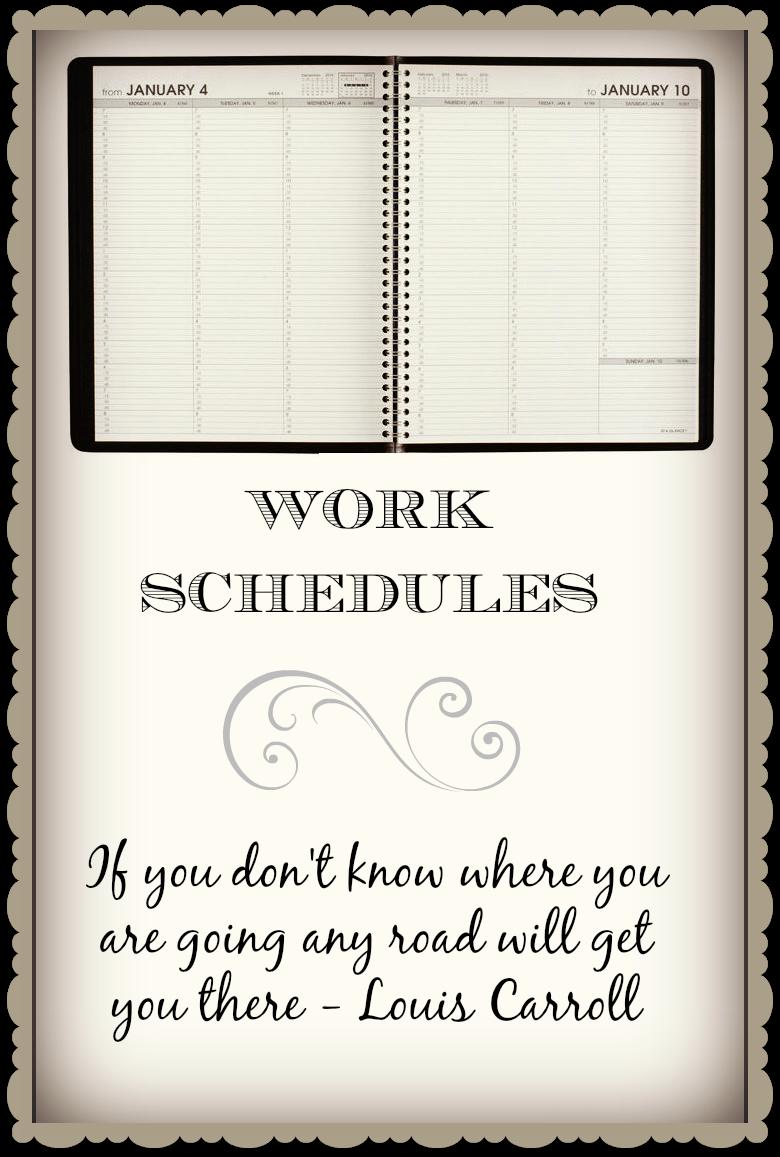 Daily work schedule book.
