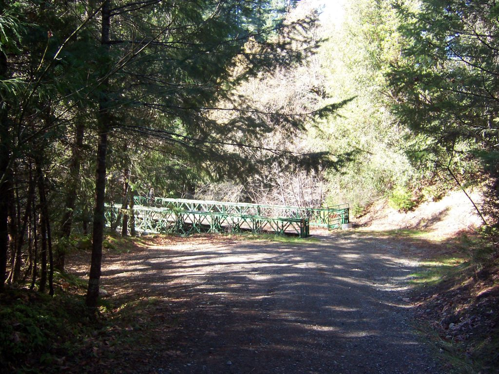 Bridge to Sulphur Springs Campground - about 12 miles south of Happy Camp, California