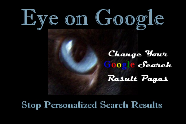 Stop personalized private search on Google.