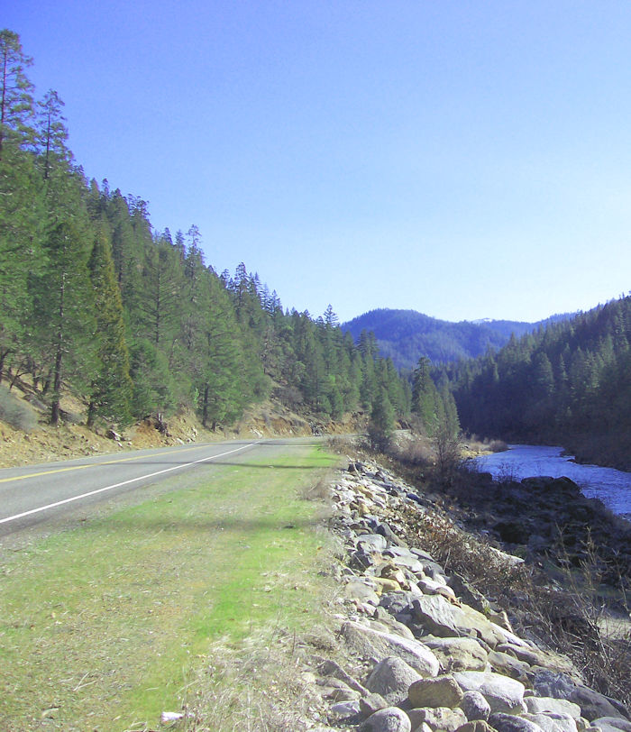 The Klamath River Highway in Northern California reaches the small towns of Horse Creek, Hamburg, Seiad Valley, and Happy Camp, deep in the center of the Klamath National Forest.