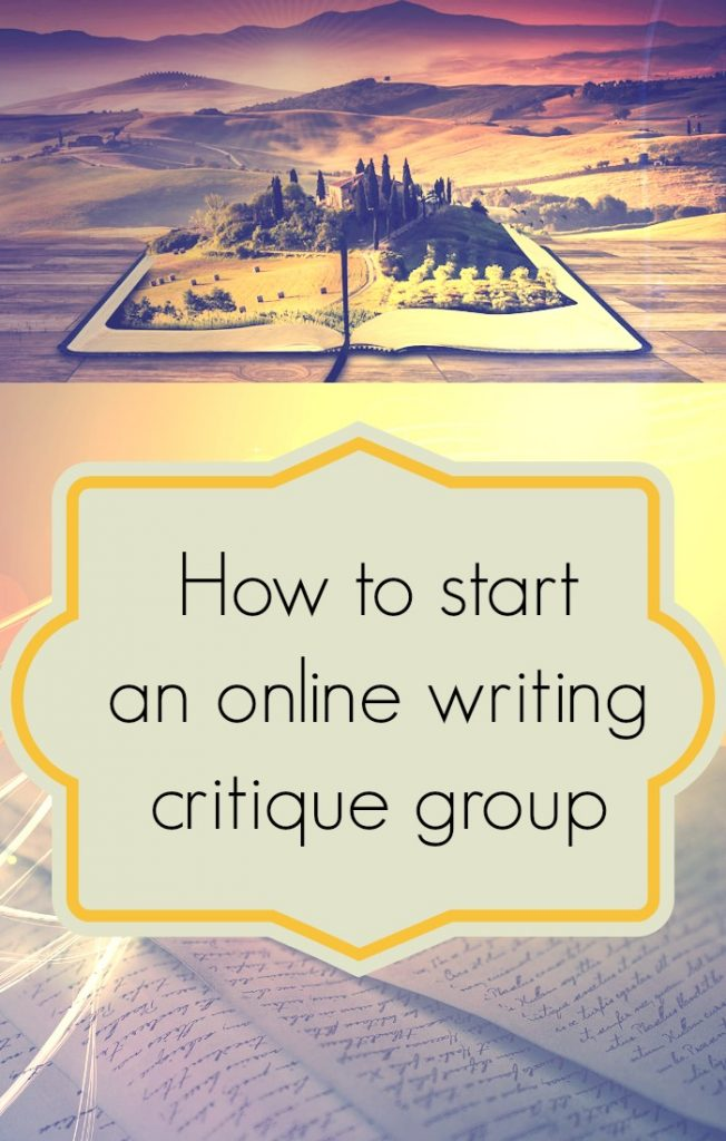 How to start online writing critique groups.