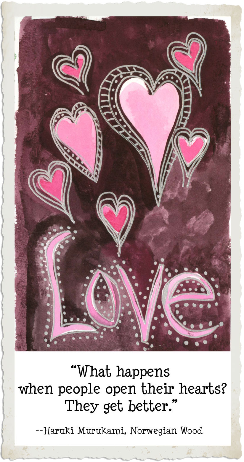 Hearts in Space - art by Linda Jo Martin - http://lindajomartin.com