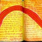 Journal Spilling, project one, by Linda Jo Martin - stream of consciousness writing and painting.