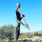The Flute Player - Veteran's Memoirial Sculpture Garden, Weed, California
