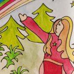 Reaching for new books - Linda Jo Martin