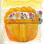 A basket of flowers, by Linda Jo Martin - http://lindajomartin.com/writing/art